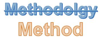 method not methodology